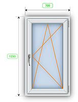Окно шир 700 мм х выс 1230 мм.
