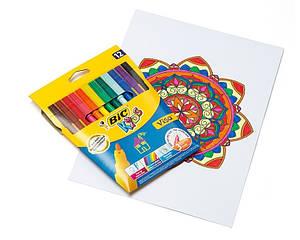 Фломастеры BIC Kids Visa  12 цветов 12 шт.