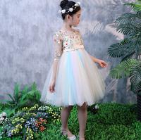 Плаття святкове дитяче Глорія з ажурним рукавом