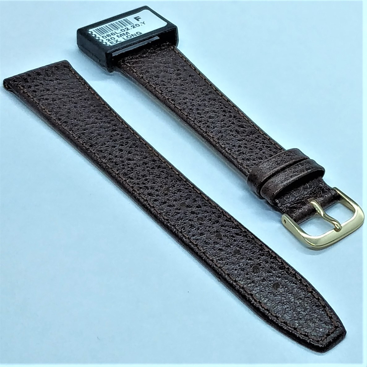 20 мм Кожаный Ремешок для часов CONDOR 086L.20.02 Коричневый Ремешок на часы из Натуральной кожи удлиненный