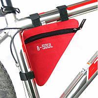 Сумка под раму велосипеда Bag Triangular Red