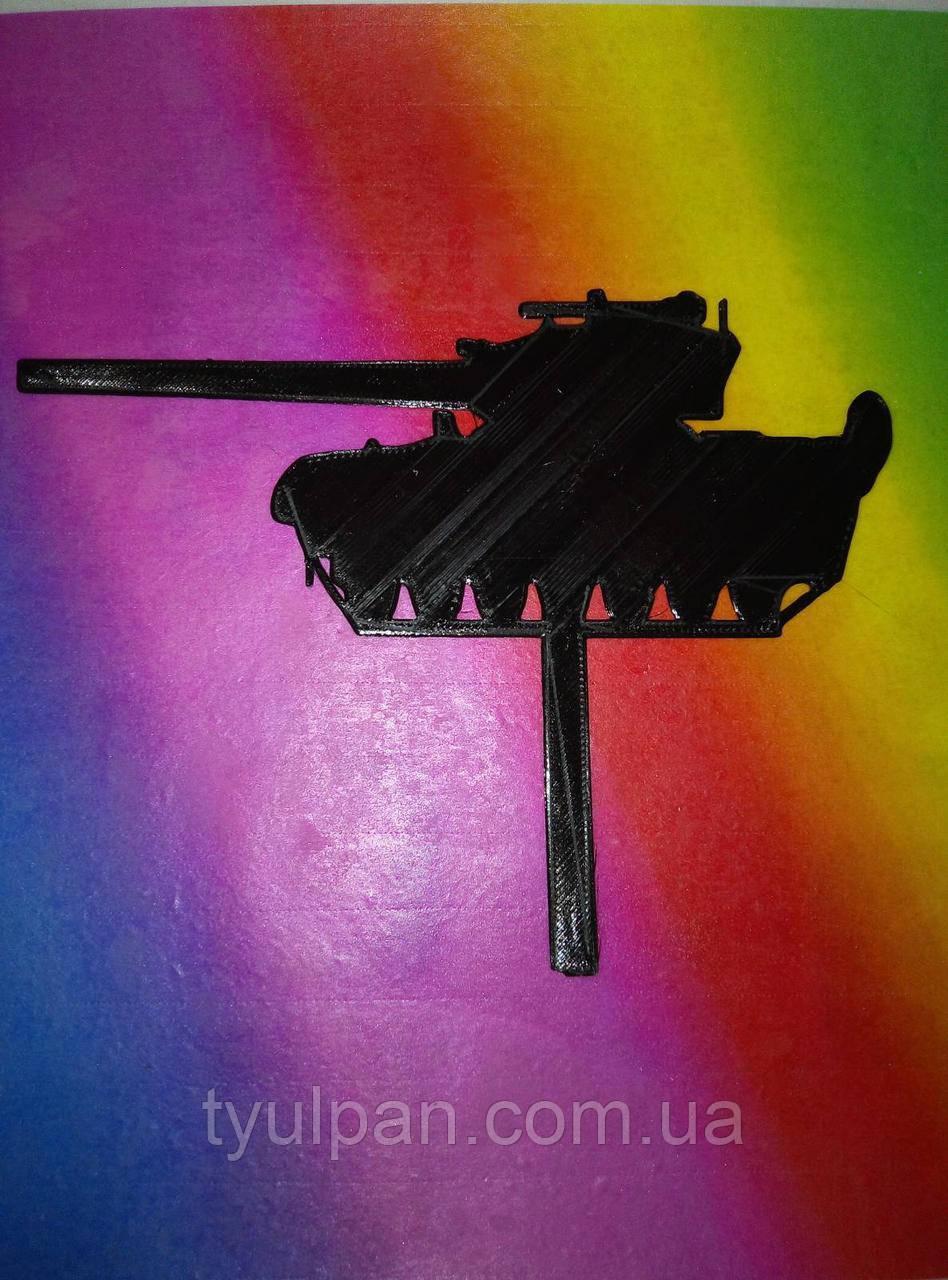 Топпер танк  выс 11 см для торта черный