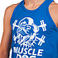 Майка борцовка спортивная мужская MUSCLE DOG размер S-XL-42-54 Желтый S (42-44) PZ-CO-5889_1, фото 3