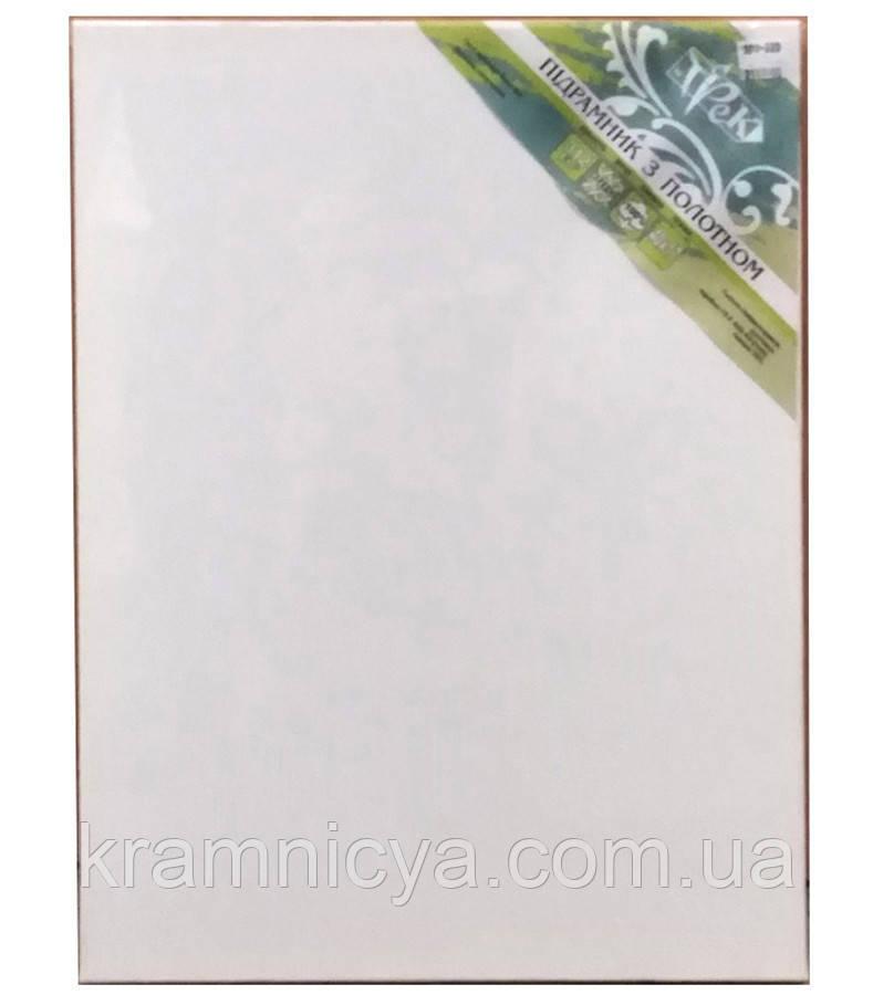 Холст чистый на подрамнике, грунтованный, 50х70 см.