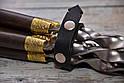 """Авторский набор шампуров ручной работы """"Орнамент"""" 69см с ручкой из мореного дуба, фото 2"""