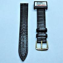 16 мм Кожаный Ремешок для часов CONDOR 526.16.01 Черный Ремешок на часы из Натуральной кожи, фото 2
