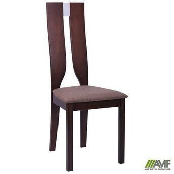 Обеденный стул Дуглас орех темный/ткань коричневая AMF