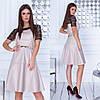 Платье / кожзам, гипюр / Украина 35-299