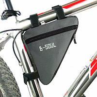 Сумка треугольная для велосипеда Bag Triangular ER45 велосумка велобардачок под раму на велосипед Серая