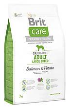 Сухой беззерновой корм для собак крупных пород Brit Care Adult Large Breed Salmon & Potato с лососем 3 кг