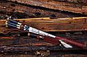 """Авторский набор шампуров ручной работы """"Индейцы чероки"""" 69см с ручкой из мореного дуба, фото 5"""