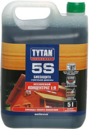Антисептик конструкционной и строительной древесины 5S TYTAN - концентрат 1:9 - 5 кг
