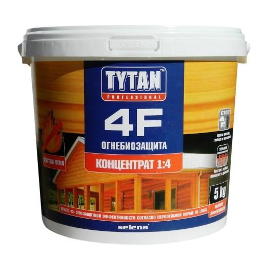 ОгнеБиозащита для дерева 4F TYTAN - зелёный концентрат 1:4 - 5 кг
