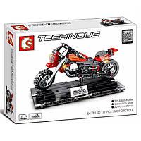 "Конструктор Sembo 701100 ""Мотоцикл на подставке""171 деталь, фото 1"