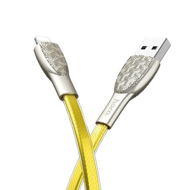 Кабель Hoco U52 Bright charging data cable for Lightning Gold