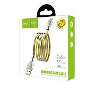 Кабель Hoco U52 Bright charging data cable for Lightning Gold, фото 2