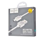Кабель Hoco U49 Refined steel charging data cable for Type-C White, фото 2
