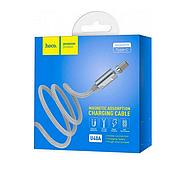 Кабель Hoco U40A magnetic adsorption Type-C charging cable Metal gray, фото 2
