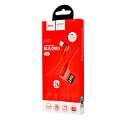 Кабель Hoco U37 Long roam charging data cable for Lightning Red, фото 2
