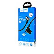 Кабель Hoco U37 Long roam charging data cable for Micro Black, фото 2