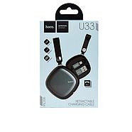 Кабель Hoco U33 Retractable Micro charging cable Black, фото 2