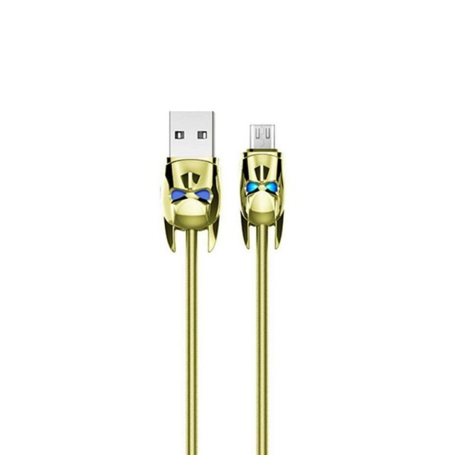 Кабель Hoco U30 Shadow Knight Micro charging cable Gold