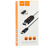 Кабель Hoco U29 LED displayed timing Type-C charging cable White, фото 2