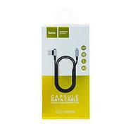 Кабель Hoco U17 capsule Micro charging cable (L-1.2M) Black, фото 2