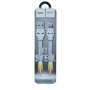 Кабель Hoco U14 Steel man Lightning charging cable White, фото 2