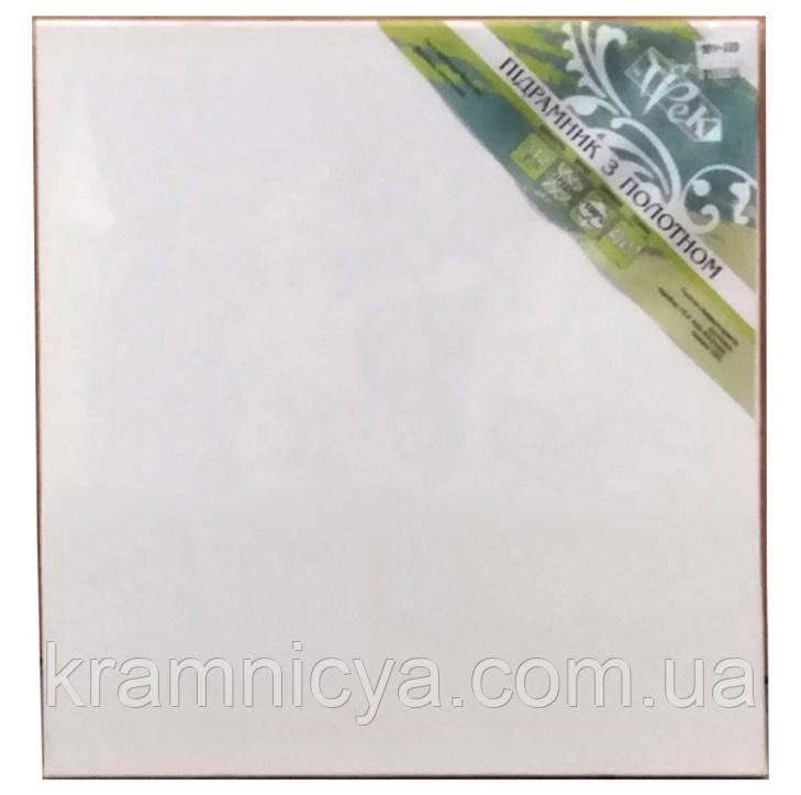 Холст чистый на подрамнике, грунтованный, 60х60 см.