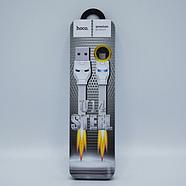 Кабель Hoco U14 Steel man Micro charging cable White, фото 2