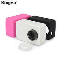 Силиконовый чехол с крышкой KingMa для камеры Xiaomi YI 4K Черный