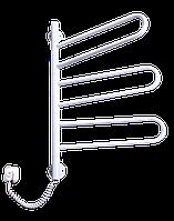 Электрический полотенцесушитель с терморегулятором Элна Флюгер - 3 поворотный белый