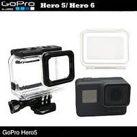 Водонепроницаемый бокс для GoPro Hero 5/ GoPro Hero 6  (полноразмерный) c дополнительной TOUCH крышкой, фото 1