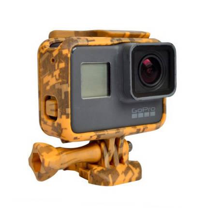 Пластиковая рамка для GoPro Hero 5/ 6/ 7 Militari Сафари, фото 2