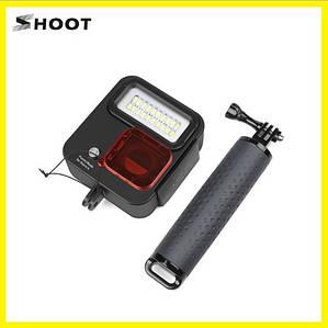 Комплект для дайвинга на камеру Gopro HERO 3+/ 4/ 5 / 6/7  (поплавок-держатель+защитный бокс с LED подсветкой)