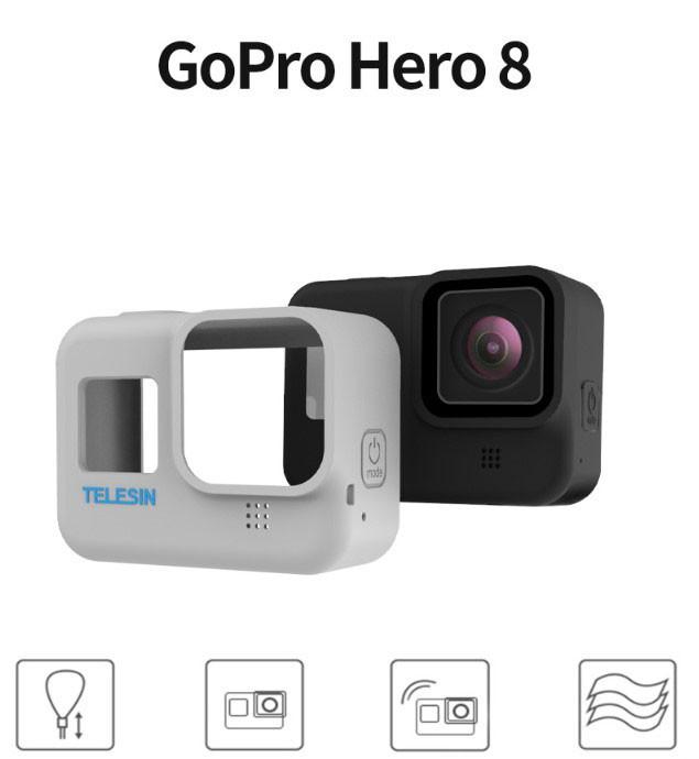 Чехол Telesin для GoPro HERO8 Black с страховочным ремешком