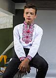 """Вышиванка для мальчика """"Подполковник"""" красная с черным 110-164, фото 6"""