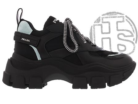 Женские кроссовки Prada Pegasus Sneakers Black, фото 2