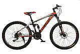 """Велосипед Oskar 26"""" S203 черно-красный, фото 2"""