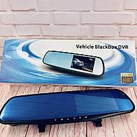 Автомобильное зеркало видеорегистратор для машины на 2 камеры VEHICLE  DVR 1080p с камерой заднего вида