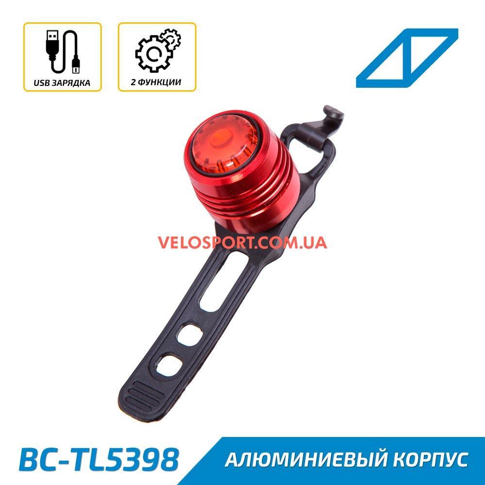 Мигалка задняя BC-TL5398 USB Al красный корпус