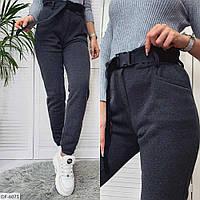 Стильные теплые спортивные штаны трехнить на флисе арт 9977