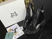 Женские ботинки MS Boots Full Black Fur, фото 2