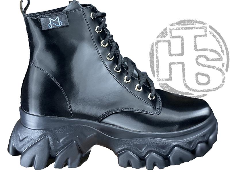 Женские ботинки MS Boots Full Black Fur