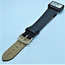 20 мм Кожаный Ремешок для часов CONDOR 081L.20.01 Черный Ремешок на часы из Натуральной кожи удлиненный, фото 3