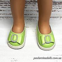 Туфли салатовые с бантиком для кукол Паола Рейна