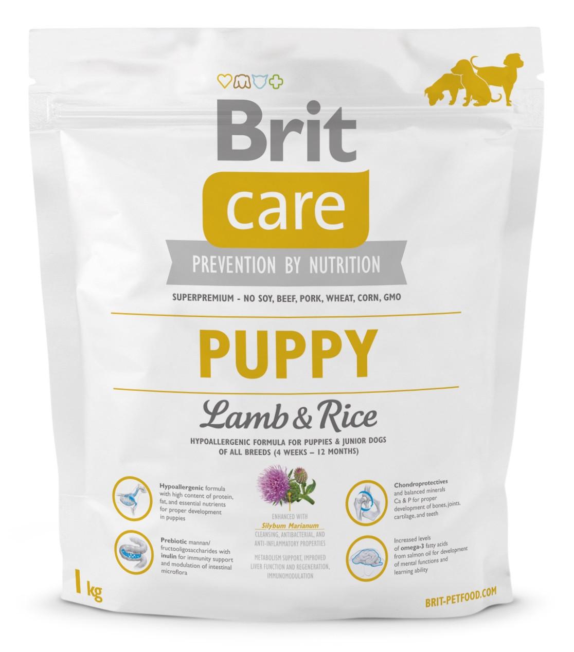 Сухой корм для щенков Brit Care Puppy Lamb & Rice с ягненком и рисом 1 кг