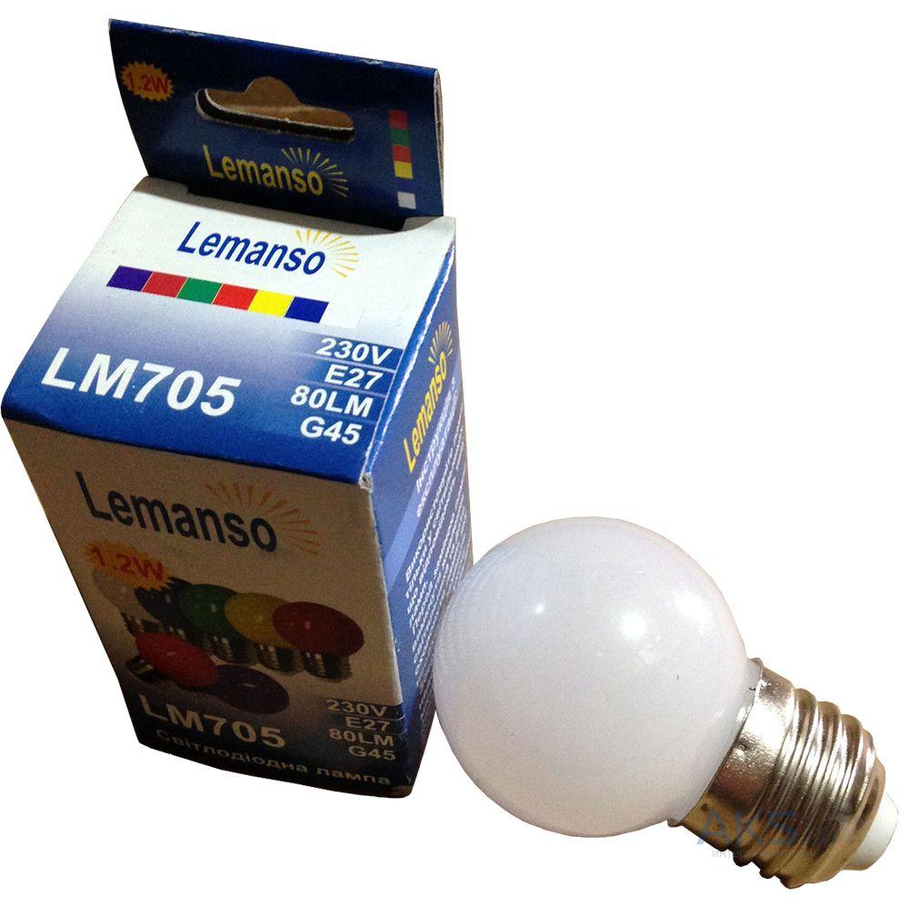 Светодиодная Лампа 1.2W Е27 шарик 6400K Lemanso Lm705