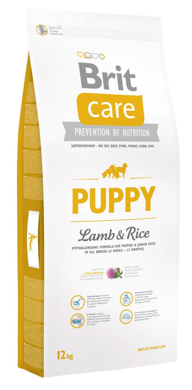 Сухий корм для цуценят Brit Care Puppy Lamb & Rice з ягням і рисом 12 кг